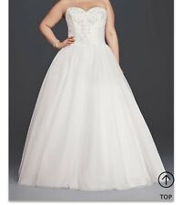 Plus size Strapless Tulle Ball Gown Wedding dress