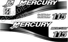 GRIGIO MERCURY 115 motore fuoribordo quattro tempi MOTORE KIT ADESIVI DECAL