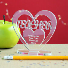 Personalised Teacher Heart Message Keepsake Thank You Gift Idea for School