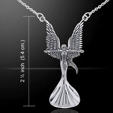Angel Calling the Storm .925 Sterling Silver Necklace by Peter Stone