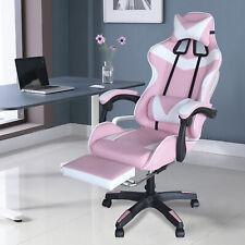 Us Pink Computer Gaming Chair Sponge Recliner Ergonomic Home Office Seat Swivel