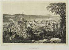 BAD SCHANDAU - Gesamansicht - Bürger - Tonlithografie 1845