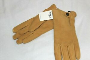 UGG Men's Tan Suede Leather Touch Compatible Gloves W/ Fleece Lining $95 Size XL