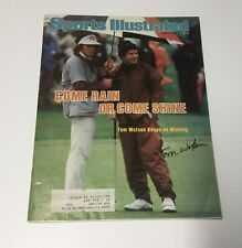 GOLF HOF TOM WATSON AUTOGRAPHED 1979 SPORTS ILLUSTRATED + TWO MORE MAGAZINES