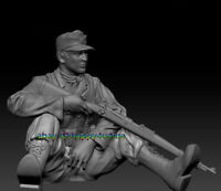 NEW 120mm WWII Resin Unpainted 1/16 Soldier Figure Model Unassembled Statue gk