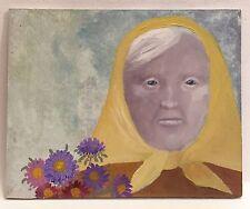 Petite PEINTURE Folklore Portrait Femme PIERRE-HENRI BOUSSARD Sard #21 Art Naïf
