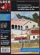 LOCO REVUE 564 DE 1993. UNE GARE DE CFE, LA SNCF DANS LE VAR.....