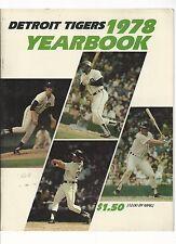 Original   1978  Detroit Tiger Yearbook   Near Mint  condition