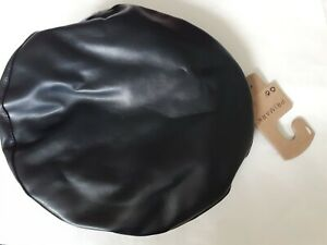 Primark PU Faux Leather Black Beret Hat BNWT