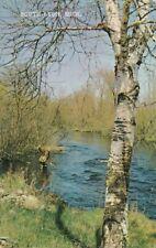 South Lyon, Oakland County MI, Michigan - Fishing in Stream - pm 1973