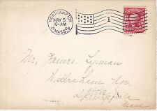POSTAL HISTORY - 1904 COVER FROM NOTHAMPTON, MA TO SPRINGFIELD, MA FLAG CANCEL