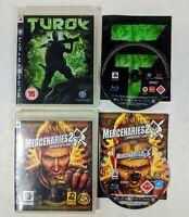 Mercenaries 2 World in Flames & Turok Playstation 3 Video Games PS3