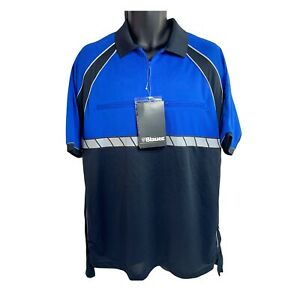 BLAUER Colorblock Performance Short Sleeve Shirt Polo Police Security Large