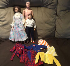 Vintage Remco Littlechap Dolls Dr. John, Lisa, Libby. 1960's & Clothes Lot