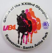 Vintage LA '84 OLYMPIC GAMES Horse Racing EQUESTRIAN Santa Anita Park Button