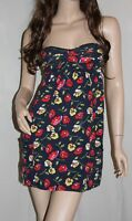 NWT ABERCROMBIE by Hollister Womens Spring Floral Sun Dress Navy S