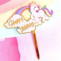 Cute Unicorn Cake Topper Birthday Home Party Card Wedding DIY Decor Pretty New