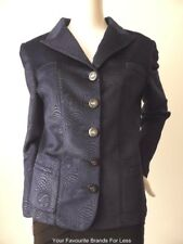 GEORGE GROSS rrp $699.00  Made in Australia Long Sleeve Blue Jacket Size 12 US 8