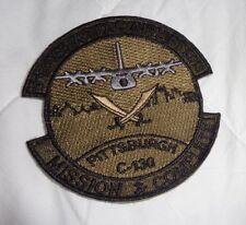 US AIR FORCE PATCH, 758TH AIR LIFT SQN,C130 PGH SCORPION,MULTI-CAM, W/HOOK LOOP