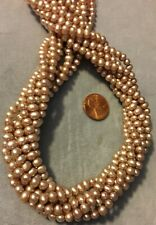 Lot 10 6mm-8mm Gold Freshwater Flat-Sided Potato Irregular Pearls Loose Beads