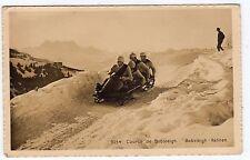 BOBSLEIGH COURSE: Switzerland postcard (C3784).