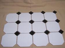 """1 SHEET 3x4 Tiles 3.5"""" White with Black Diamond KMT Tiles New kitchen bath"""