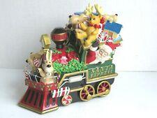 Fitz & Floyd Santa Express Christmas Train Music Box Plays Toyland
