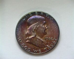 1962 FRANKLIN SILVER 50 CENTS GEM+ UNCIRCULATED RARE THIS NICE!