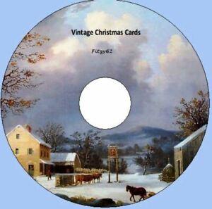 1500 Vintage Victorian Christmas Cards Art & Craft CD