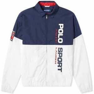 POLO SPORT RALPH LAUREN Mens OG Classic Windbreaker Jacket Navy White Red Small