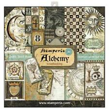 Stamperia Alchemy 12 x 12 Paper Pack - Sun Moon Animals Tags Alphabet Hands