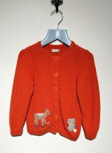 John Lewis Baby Girl Age 12-18 Months Cardigan Orange Woodland Animals