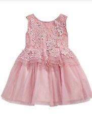 Nanette Lepore Baby Girls Rose Floral Peplum Dress Size: 12 M