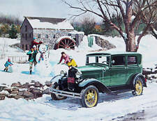 Old Gristmill 1931 Ford Model A Winter Family fun