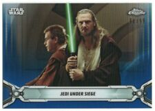 2019 Star Wars Chrome Legacy Blue Refractors 2 Obi-Wan Kenobi Qui-Gon Jinn 91/99