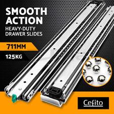 """Cefito Drawer Slides Ball Bearing Heavy Duty Locking Runner 125KG 711mm 28"""""""