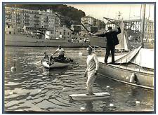Pierre Constantin, passage clouté ! Vintage silver print Tirage argentique
