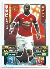 2015 / 2016 EPL Match Attax Base Card (173) Ashley YOUNG Manchester United