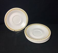 4 Franciscan Hacienda Gold Saucers Earthenware