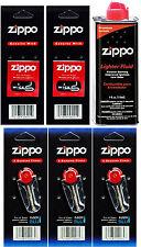 4 Ounce Fuel Fluid & 3 Packs Flint (24 Flints) & 2 Wicks for Zippo Lighters