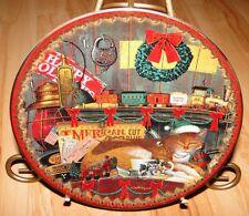 Charles Wysocki's Santa's Little Helpers, A Long Winter's Nap, Cat Plate