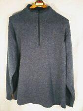 Woolrich Quarter Zip Sweater Mens XLARGE 70% Wool Deep Indigo Heather