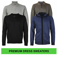 E-38 Italy Men's Slim Fit Luxury Wool Zip Up Pullover Hoodie Cardigan Sweater