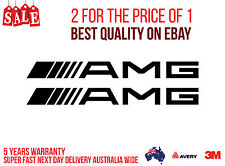 2 x AMG MERCEDES Stickers for your Car, Boat... 200MM WIDE BLACK