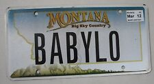 "MONTANA  VANITY LICENSE PLATE "" BABY LO "" LOW J'LO LOU LOUISE BABIE"