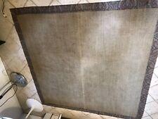 Grande tappeto Etro in cocco grigio con bordi cachemire