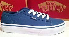 New Kids Boys Vans Ferris Canvas Blue Steel/White Trainers Plimsolls Shoes UK 13