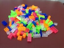 184 Neon Building Blocks clear, blue, green, orange, pink compatible
