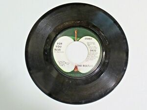 Vtg. Vinyl 45 Record The Beatles For You Blue / The Long and Winding Road Apple