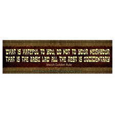 CS276-B - Jewish Golden Rule Color Sticker / Peace / Love / Tolerance